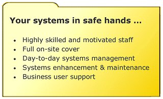 Your systems in safe hands - image